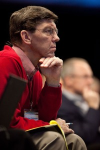 Clayton Christensen at the 2009 Microsoft CEO Summit conference held in Redmond, WA